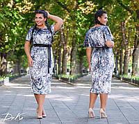 Красивое женское батальное платья в размерах 50-52  54-56, фото 1