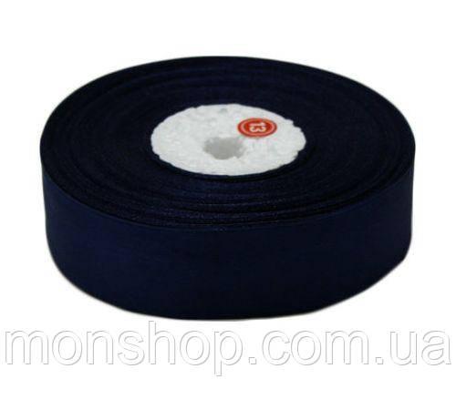 Темно-синя атласна стрічка 0,6 см