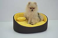 Лежак для собак и котов Акварель коричневый, фото 1