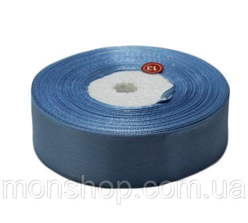 Лазурно-синяя атласная лента 0,6см