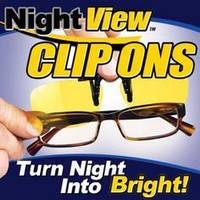 Очки для вождения Night View Clip Ons, антибликовые очки для водителей Найт Вью Клип Онс