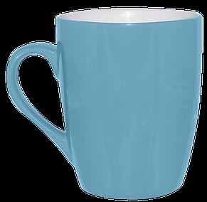 Кружка голубая конус 320 мл, фото 2