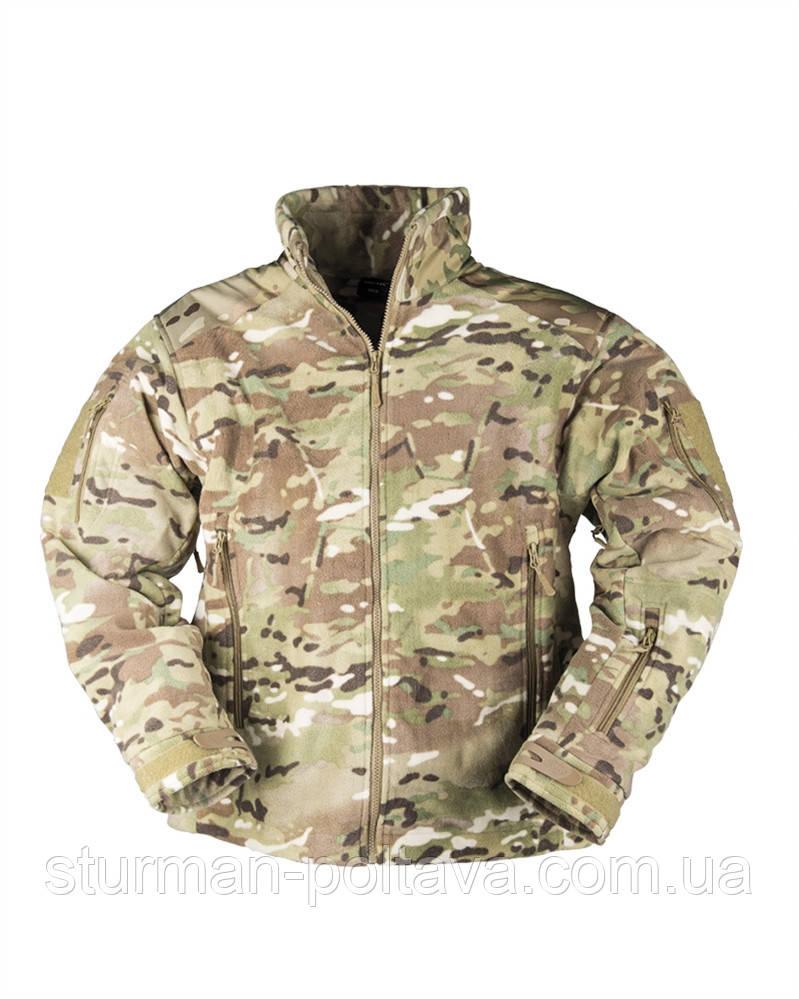 Куртка чоловіча флісова DELTA-JACKET FLEE Mil Tec камуфляж мультикам Multicam Німеччина