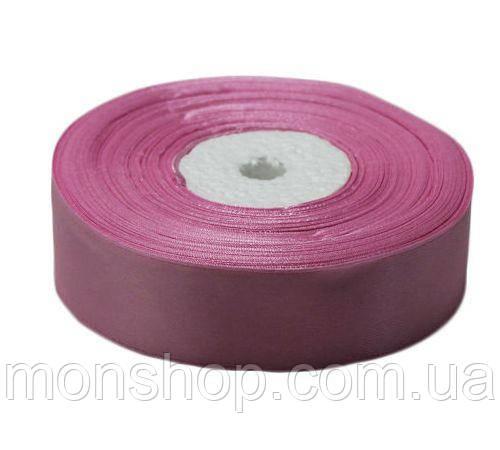 Дымчатая розовая атласная лента 0,6см