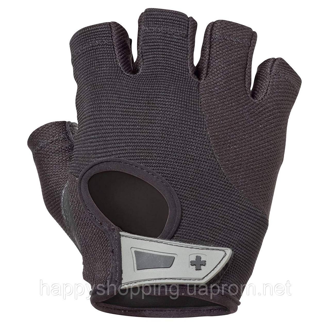 Женские черные перчатки для спорта кожа/текстиль Harbinger, фото 1