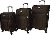 Набір дорожніх валіз на 4 колесах Bonro Tourist набір 3 штуки Коричневий, фото 1
