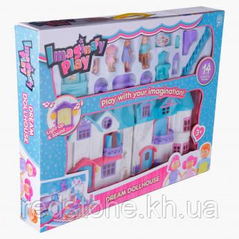 Кукольный дом 1205CD Doll House (звук, свет, мебель, фигурки)