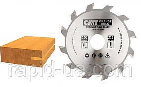 Пазовый пильный диск CMT D150 d30 z12 К-4 мм.