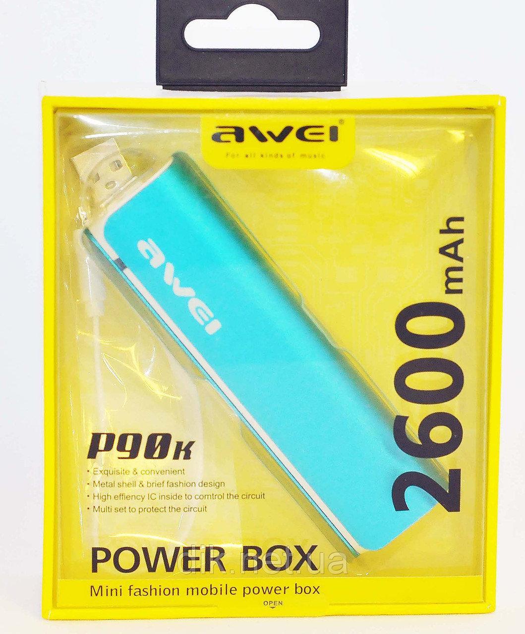 Power Bank Awei P90k Blue 2600mAh