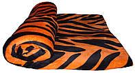 Плед махровый полуторный 18082 Tiger 1,5 м * 2,2 м вельсофт (микрофибра)