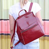 """Женский кожаный рюкзак-сумка(трансформер) """"Жозефина  Red"""", фото 1"""