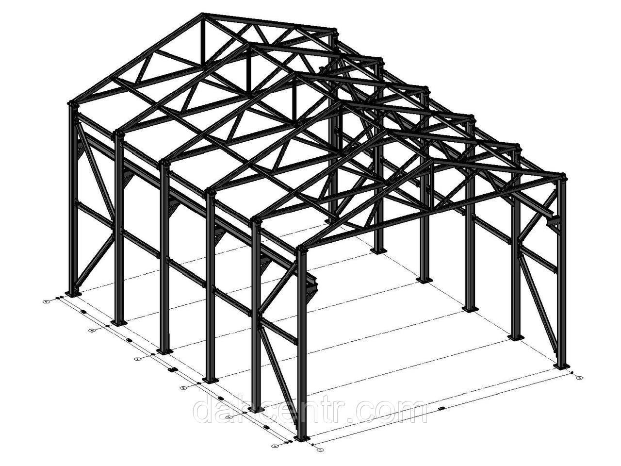 Склад 15х24 ангар, навес, фермы, стойки, под цех, зерно, сто, здание.