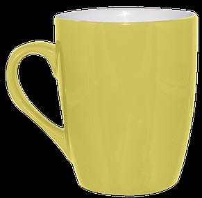 Кружка желтая конус 320 мл, фото 2