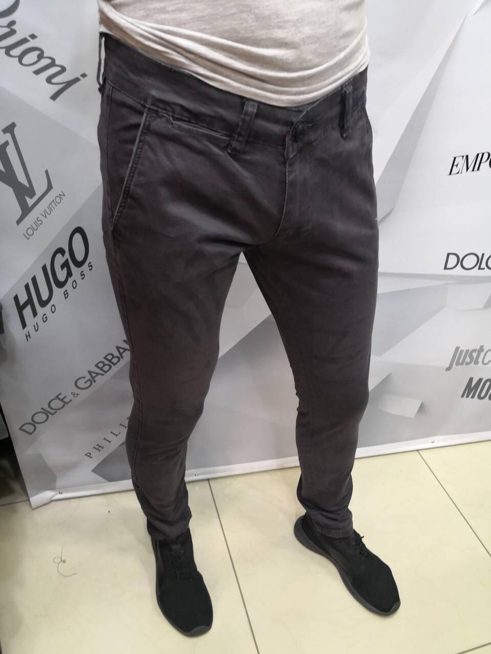 Джинсы мужские D4138 темно-серые