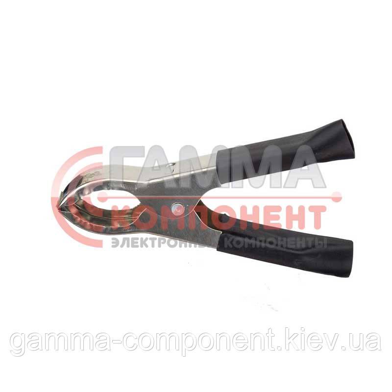 Зажим аккумуляторный (крокодил) WD037, L:43мм, черный
