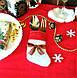 Сапожок новогодний для столовых приборов белый, фото 2