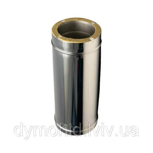 Димохідна труба з нержавійки утеплена  500мм  AISI 304, т. 0,5 (Ǿ100*Ǿ160)