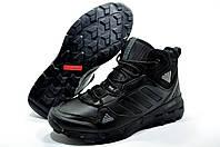Зимние мужские кроссовки в стиле  Adidas Terrex Fast Mid GTX Surround, Чёрные