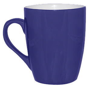 Кружка синяя конус 320 мл, фото 2