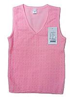 Шерстяной жилет розового цвета, рост 128-134 см, фото 1