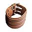 """Кожаный браслет """"3 ряда"""" (коричневый), фото 4"""