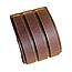 """Кожаный браслет """"3 ряда"""" (коричневый), фото 5"""