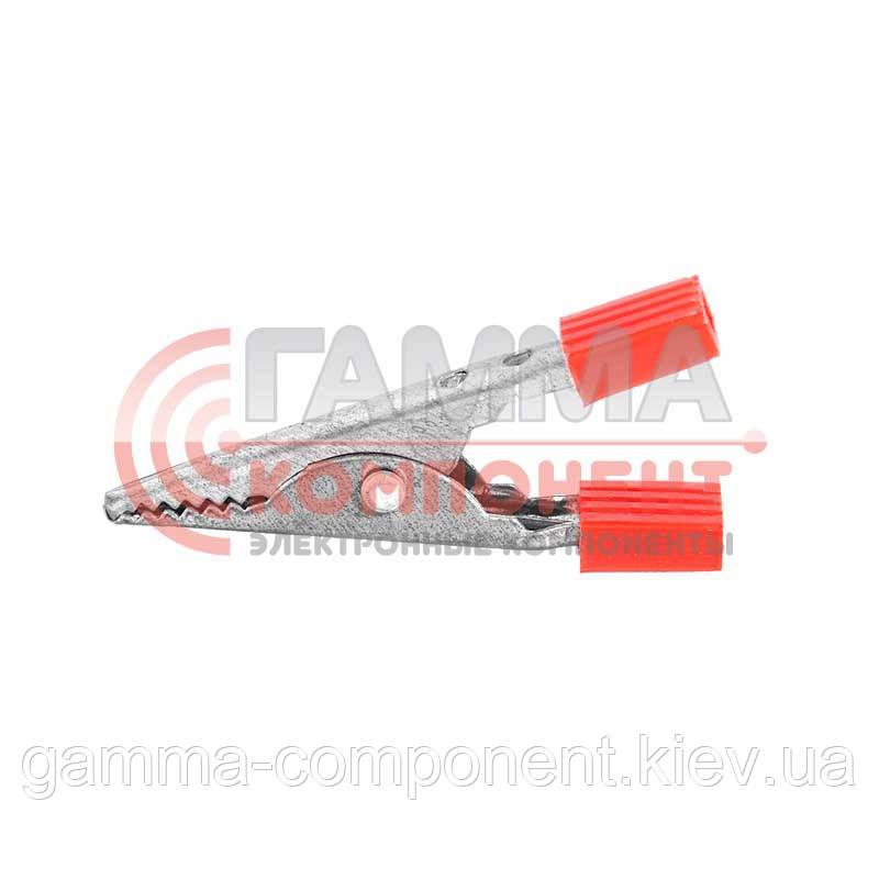 Зажим аккумуляторный (крокодил) WD028C,   L:51,5,      красный