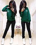 """Женский стильный теплый костюм на флисе """"Котик"""": свитшот и штаны (5 цветов), фото 2"""