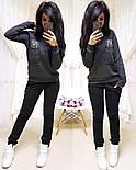 """Женский стильный теплый костюм на флисе """"Котик"""": свитшот и штаны (5 цветов), фото 3"""