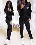 """Женский стильный теплый костюм на флисе """"Котик"""": свитшот и штаны (5 цветов), фото 4"""