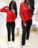 """Женский стильный теплый костюм на флисе """"Котик"""": свитшот и штаны (5 цветов), фото 5"""