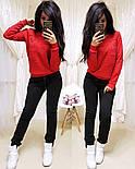 """Женский стильный теплый костюм на флисе """"Котик"""": свитшот и штаны (5 цветов), фото 8"""