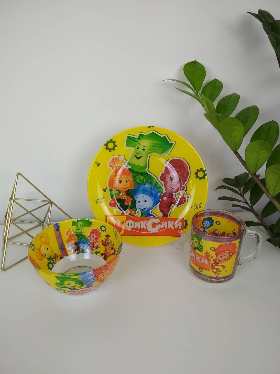 Детский набор посуды Фиксики3 предмета