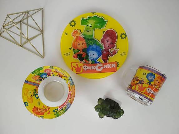 Детский набор посуды Фиксики3 предмета, фото 2