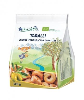 Сушки Fleur Alpine Органик итальянские на оливковом масле Таралли, 125 г