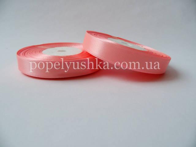 Стрічка атласна 1,2 см рожева