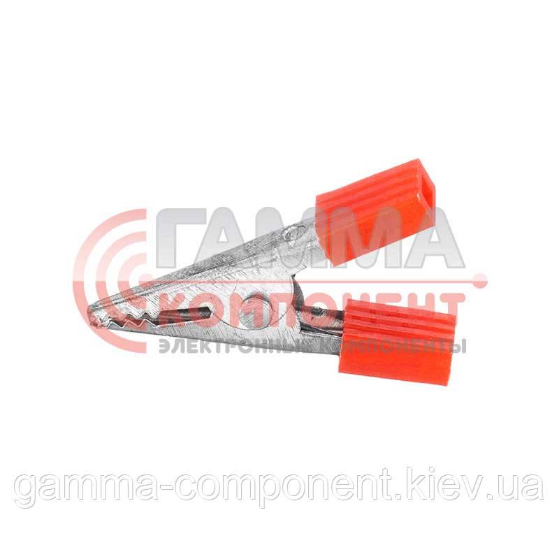 Зажим аккумуляторный (крокодил) WD028A,     L:33, красный