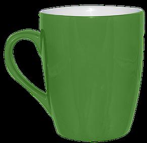 Кружка зеленая конус 320 мл, фото 2