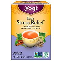 Yogi Tea, Kava Stress Relief, без кофеина, 16 чайных пакетиков, 1.27 унций (36 г), фото 1