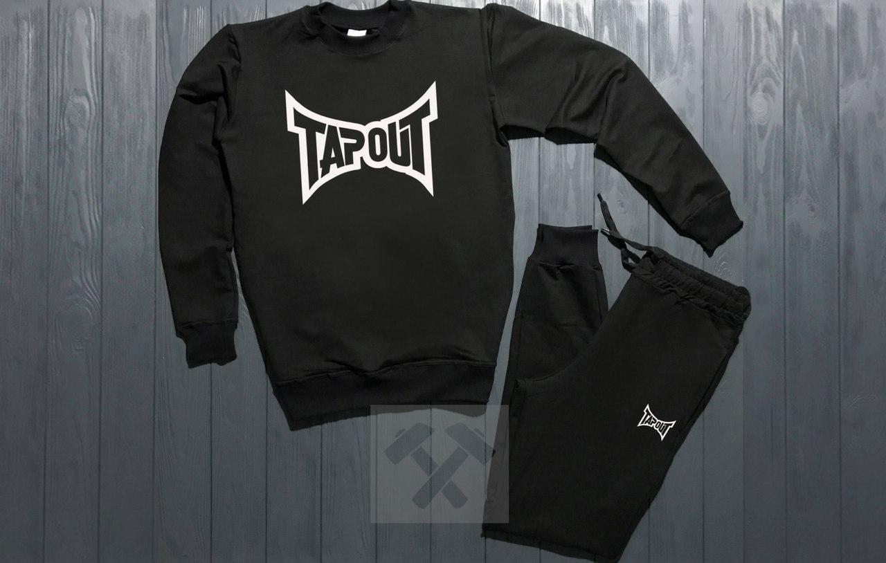 Спортивный костюм без молнии Tapout черный топ реплика