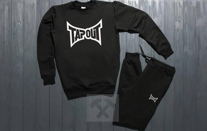 Спортивный костюм без молнии Tapout черный топ реплика, фото 2