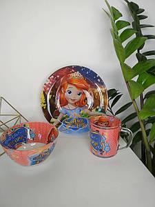 Детский набор посуды Принцесса София из 3 предметов