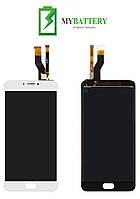 Дисплей (LCD) Meizu M6 Note с сенсором белый