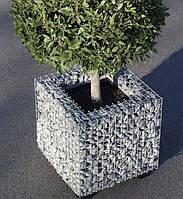 Клумба из габионов и ваза, фото 1