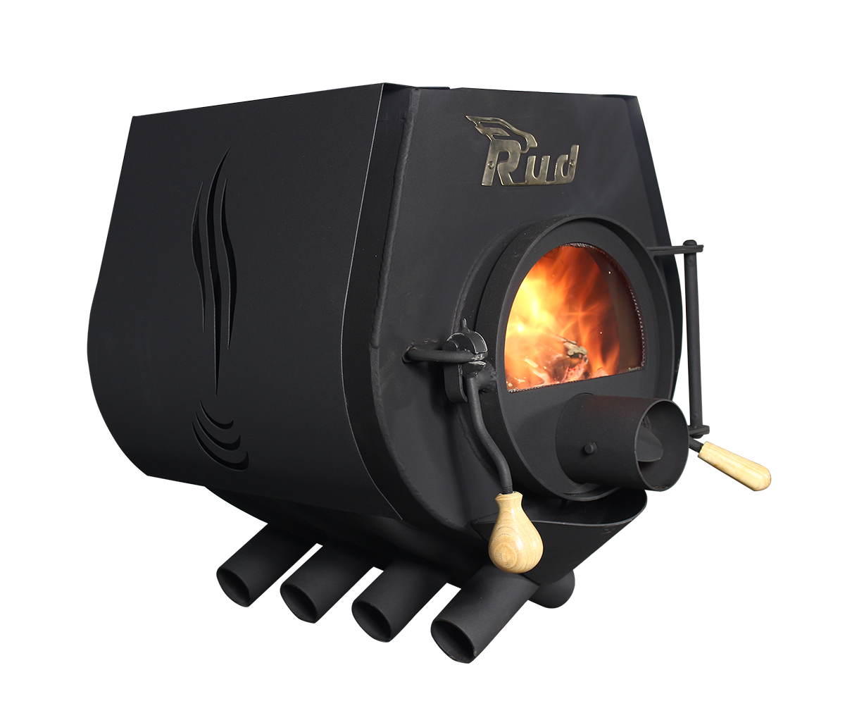Булерьян, отопительная печь Rud Pyrotron Кантри 00 с варочной поверхностью Стекло в дверце печи