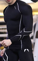 Компрессионные лосины реглан, тайтся, женские и мужские. Реплика 2XU для высокого и стандартного роста, фото 1