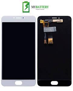 Дисплей (LCD) Meizu M3 Note (M681H/M681Q/M681C) с сенсором белый