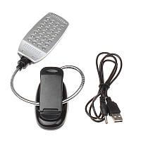 Светодиодный настольный USB светильник 28LED на батарейках Черный