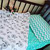 Комплект постельного белья - мята ткань