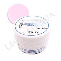 Гель для наращивания камуфлирующий светло-розовый Lady Victory  AG-09.